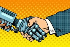 Buy Handshake of Robot and Man New Technologies by studiostoks on GraphicRiver. Handshake of robot and man. New technologies and evolution pop art retro style. Computers and gadgets. Napalm Girl, Trade Finance, Finance Business, Finance Blog, Der Handel, Financial Instrument, Wealth Management, Marketing, Machine Learning