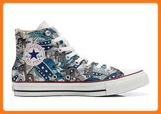 Converse All Star Customized - personalisierte Schuhe (Handwerk Produkt customized) Horse Feathers size 42 EU (*Partner Link)