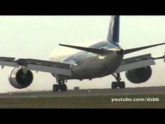 Boeing 787 crosswind testing.  What a beautiful plane.