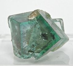 Emerald Green Zoned English Fluorite Twin