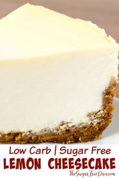 Low carb sugar free cheesecake this could be made keto too great dessert recipe to make for the holidays parties or birthdays as well lowcarb easy recipe cheesecake kito homemade sugarfree dessert Great Desserts, Low Carb Desserts, Low Carb Recipes, Desserts For Diabetics, Diabetic Dessert Recipes, Low Carb Dessert Easy, Easy Recipes For Desserts, Diabetic Desserts Sugar Free Low Carb, Diabetic Deserts