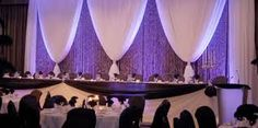 stage backdrops using tulle and pillars - Google Search
