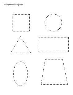 preschool printables | Free printable worksheets with basic shapes for preschool kids | Print ...