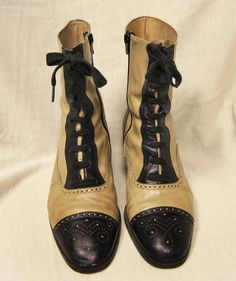 vintage victorian-style oxford boots