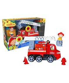 Look at this Caillou Firetruck Set on #zulily today!