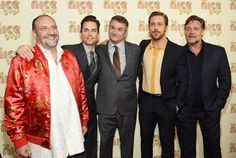 "Russell Crowe Photos - (L-R) Joel Silver, Matt Bomer, Shane Black, Ryan Gosling and Russell Crowe attend ""The Nice Guys"" New York Screening at Metrograph on May 12, 2016 in New York City. - 'The Nice Guys' New York Screening"