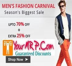 men fashion carnival Upto 70 % + 25% Off on Mens Accessories and Fashion Wear