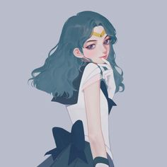 Art by Along (eriol_S2) (Sailor Neptune)