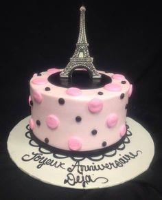 Eiffel Tower Cake, Cakes By Darcy Soccer Birthday, 40th Birthday Parties, Birthday Cake, Basket Weave Cake, Cupcake Cookies, Cupcakes, Eiffel Tower Cake, Paris Cakes, Engagement Cakes