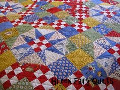 Full Bloom pattern by Miss Rosie from Green Fairy Quilts--check out the quilting  -- Fabric - Breath of Avignon by American Jane