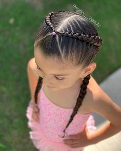Happy Friday 💕 #PoolDay 👙💦 . . 🌟Today's hairstyle inspired by the talented @brianasbraids 🌟 . . #brigitte___beauty 👸🏼✨ . .… Easy Toddler Hairstyles, Kids Curly Hairstyles, Natural Hairstyles For Kids, Cute Girls Hairstyles, Princess Hairstyles, Trendy Hairstyles, Toddler Hair Dos, Hairdos, Headband Hairstyles