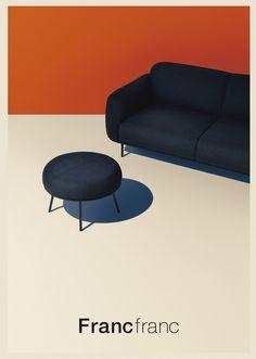 Franc franc PH/Junichi Ito Illustration Photo, Graphic Design Illustration, Illustrations, Home Decor Furniture, Furniture Design, Swiss Design, Graphic Design Posters, Grafik Design, Mid Century Furniture