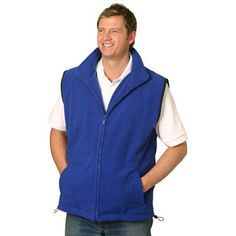 Unisex Embroidered Polar Fleece Vest Min 25 - Clothing - FLEECE JACKETS is one of our best categories. There are many types of Fleece Jackets's in the Fleece Jackets category. Mens Fleece, Fleece Vest, Fleece Jackets, Polar Fleece, Vests, Unisex, Clothing, Fashion, Wool Coats