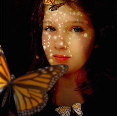 Kaia Miller is a photographer dedicated to creating self portraits daily and exploring her dream world through her work. Did I mention she is 12?! kaia-butterflies