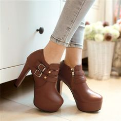 How I know i got it bad: I thought these Brown ankle boots were chocolate