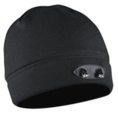 Headlamp Cap Light, 4 LED Beanie Unisex Powercap Hat, Powerful Ultra Bright 48 Lumens, Hands free Easy Push button Switch, Includes Replaceable Batteries, For Indoor & Outdoor
