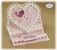 Couture Creations: Heart Easel Card by Sue Smyth