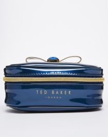 Ted Baker | Ted Baker Purple Bow Metallic Jewelry Case