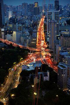 Tokyo Lights. Tokyo, 2012. By Jürgen Bürgin.