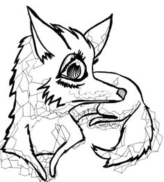 Geometric Foxy Lady - Free Printable Coloring Page for Adults