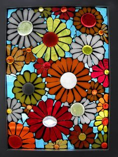 glass on glass mosaic - June Flowers 2