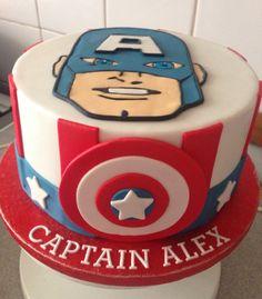 Captain America Birthday Cake