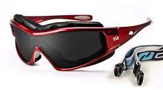 Daisan Flatscreen Multisportbrille mit Band und Windschutzpolster