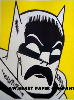 Batman Mustache Art Print  Superhero by OutlawHeartPaperCo on Etsy, $6.95