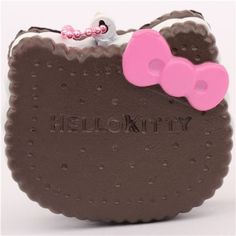 cute Hello Kitty chocolate biscuit bow squishy charm cellphone charm  2