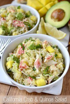 California Crab and Quinoa Salad is a light, fresh, and refreshing dish!   iowagirleats.com