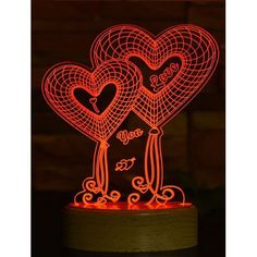 Acrylic lamp Love All The Colors, Different Colors, Night Light, Kids Room, Presents, Neon Signs, Lights, Led, Photo And Video