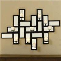 Wall Mirror Decor w/Candleholder