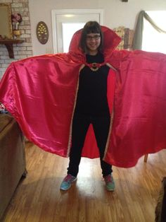Cloak of satin with interfaced stand up collar. Fastener was an old gold belt. Dr Strange Cloak, Gold Belts, Stand Up, Satin, Dresses, Fashion, Gowns, Moda, Get Back Up