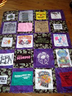 Tshirt rag quilt, 2 sided.