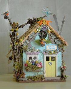 Fairy Garden Miniature Doll ROBIN'S NEST FLOWER FAIRY HOUSE for SPRING SUMMER | eBay