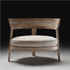 Flexform Abbracci Armchair - Style # 15Q01, Modern Armchair - Contemporary White Armchair - Leather Armchair - Swivel Armchair | SwitchModern.com