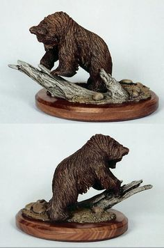 Bear Wood Carving or Sculptures by Sitka Alaska Artist Dale Hanson