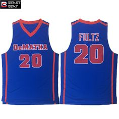 Aliexpress.com   Buy Markelle Fultz  20 DeMATHA High School Basketball Blue  Men s Student Team Beast Beat Breathable Throwback Jerseys from Reliable ... cc7cf5a04