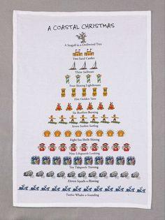 12 Days Of A Coastal Christmas Kitchen Towel