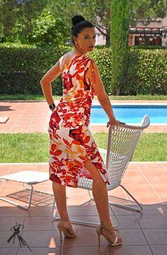 One shoulder floral tango dress Cocktail dress Unique | Etsy