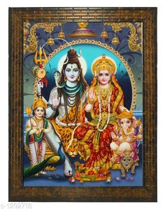 Checkout this latest Religious Paintings & frames_500-1000 Product Name: *Stylish Wall Painting* Material : Wood & Plastic Dimension ( L X W ) : 13 In X 10.2 In Description : It Has 1 Piece Of Shiv Pariwar Painting Work : Printed Country of Origin: India Easy Returns Available In Case Of Any Issue   Catalog Rating: ★4.2 (372)  Catalog Name: Stylish Wall Paintings Vol 1 CatalogID_164694 C128-SC1316 Code: 622-1292718-804