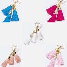 Gold Fringe Tassel Keychain