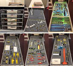 Here's a look inside the tool box used by astronauts training for a mission to the International Space Station!