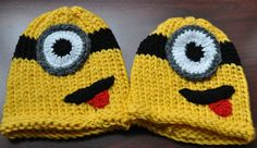 Minions knitted hats