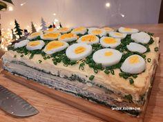 Tort sałatkowy - hit każdej imprezy - Swojskie jedzonko Potato Salad, Sushi, Pizza, Potatoes, Menu, Ethnic Recipes, Kitchens, Salads, Menu Board Design