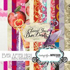 Ever After High Digital Scrapbook Kit by AshleyLynnImpression, $6.00