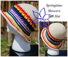 Manda Nicole's Crochet Patterns: Springtime Showers - Free pattern. Sizes: toddler to adult.