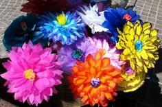 Colorful paper flowers for the Carnival in San Miguel de Allende, Mexico