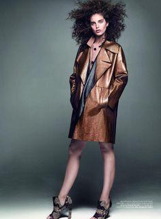 """Dokun ve Hisset"" Emily DiDonato by Terry Tsiolis for Vogue Turkey January 2014"