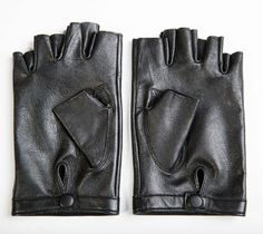 5ae55454c Amazon.com: Kursheuel Women's Nappa Leather Soft Suede Leather Fingerless  Gloves Covered Punk Rock